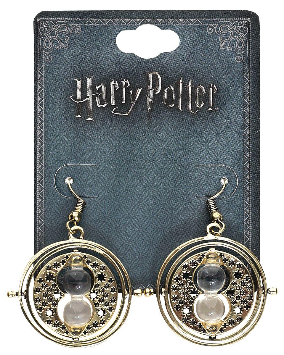Ohrringe für Frauen - Harry Potter Hermines Zeitumkehrer Ohrring Set goldfarben  - Onlineshop EMP