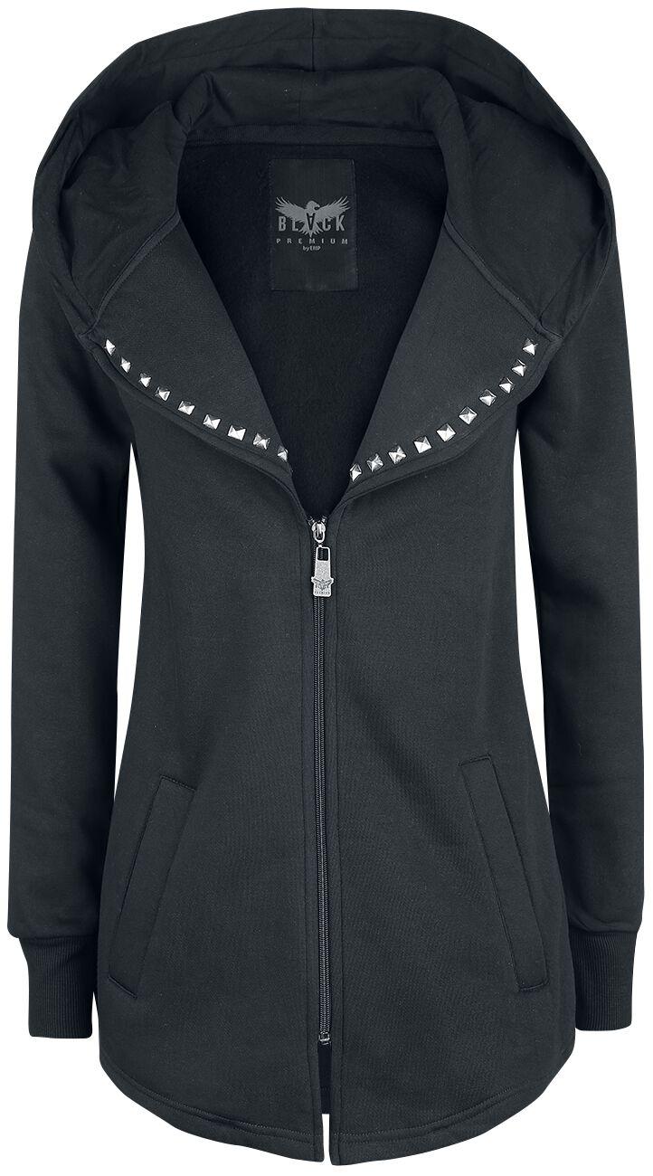 Black Premium by EMP How Long Bluza z kapturem rozpinana damska czarny