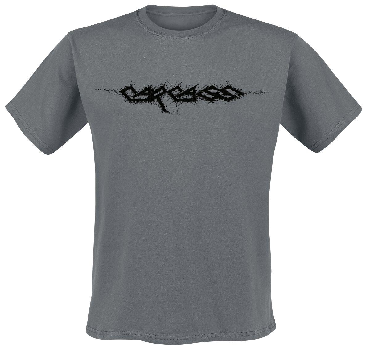 Zespoły - Koszulki - T-Shirt Carcass Logo T-Shirt ciemnoszary - 374813