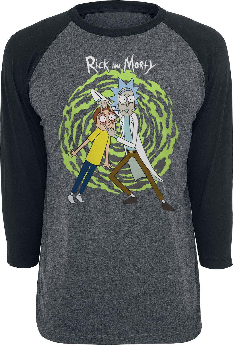 Image of   Rick And Morty Spiral Langærmet koks-sort