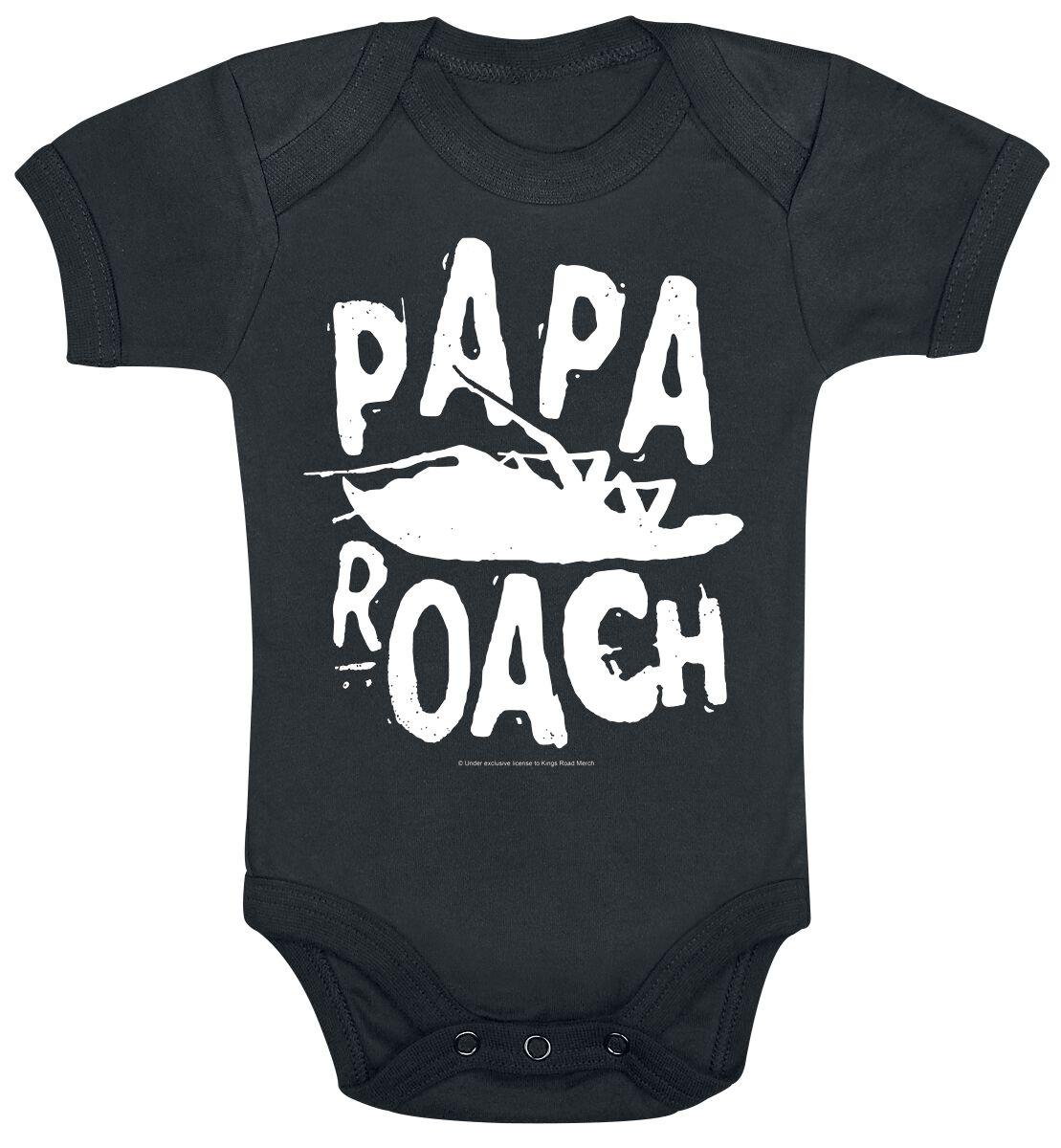 Zespoły - Odzież dziecięca i niemowlęca - Body Papa Roach Logo Body czarny - 374868