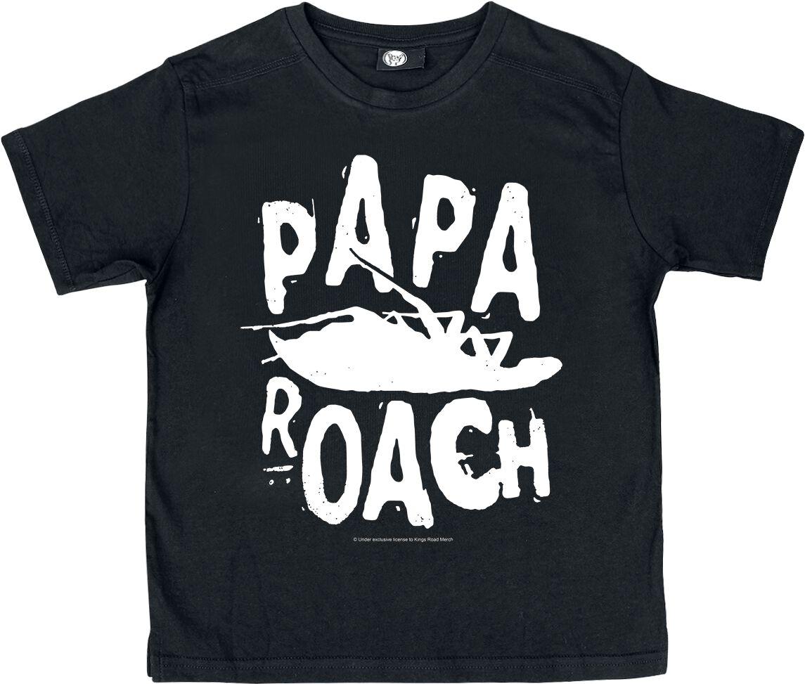 Zespoły - Odzież dziecięca i niemowlęca - Koszulka dziecięca Papa Roach Logo Koszulka dziecięca czarny - 374876