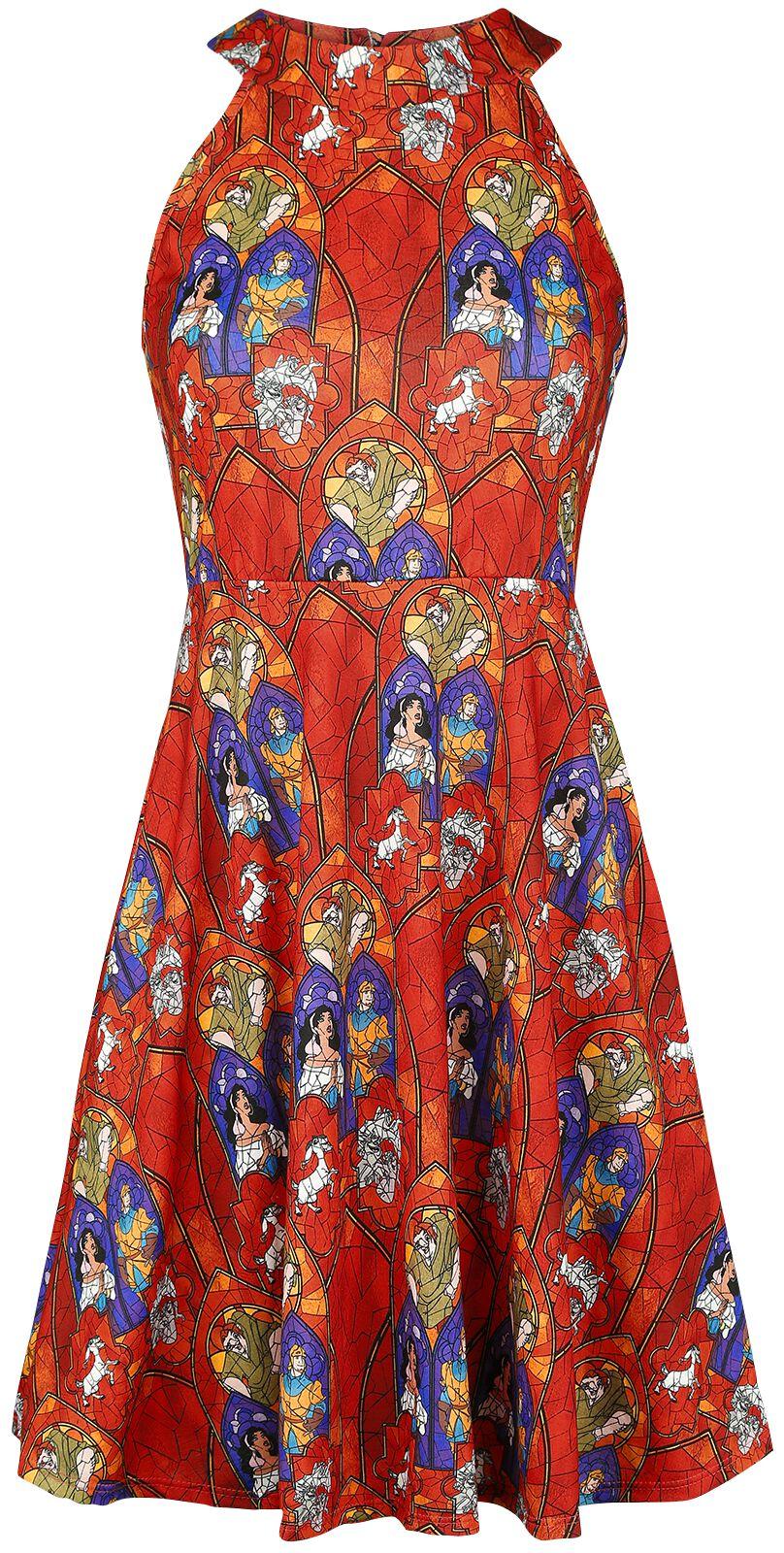 Der Glöckner von Notre Dame Stained Glass Sukienka wielokolorowy
