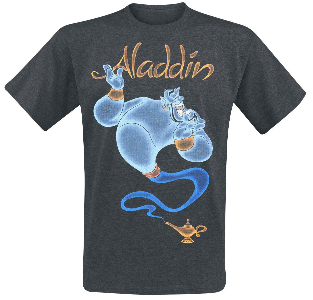 Merch dla Fanów - Koszulki - T-Shirt Aladyn Genie - Magic T-Shirt odcienie ciemnoszarego - 374998