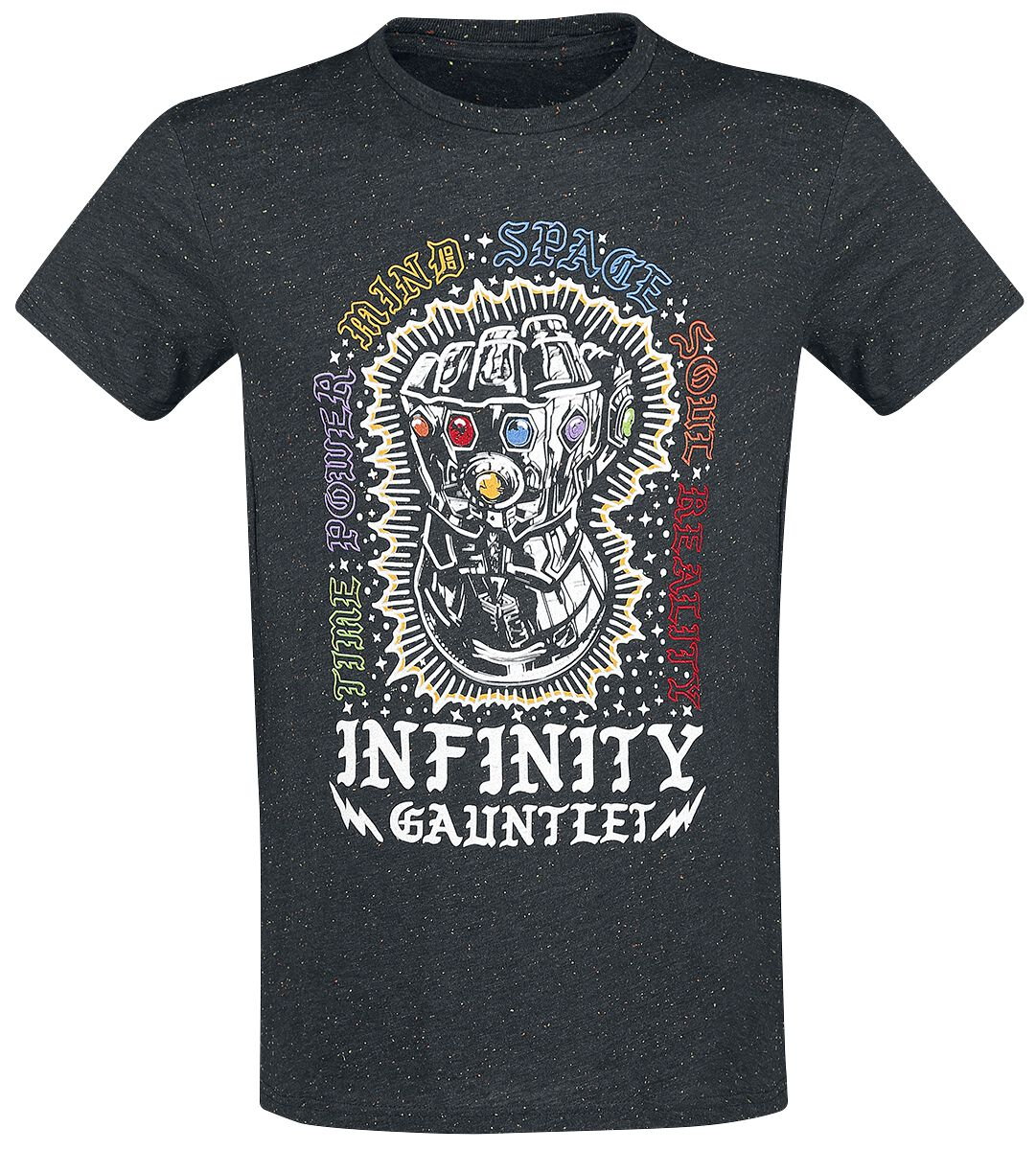 Image of   Avengers Infinity War - Infinity Gauntlet T-Shirt sort