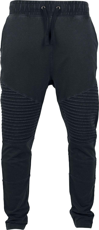 Image of   Urban Classics Acid Wash Biker Terry Joggingpants Jeans sort