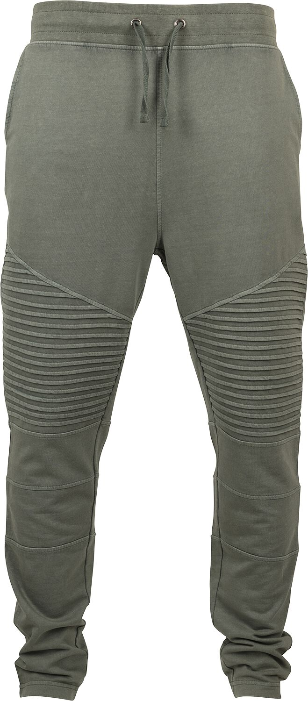 Image of   Urban Classics Acid Wash Biker Terry Joggingpants Jeans olivengrøn