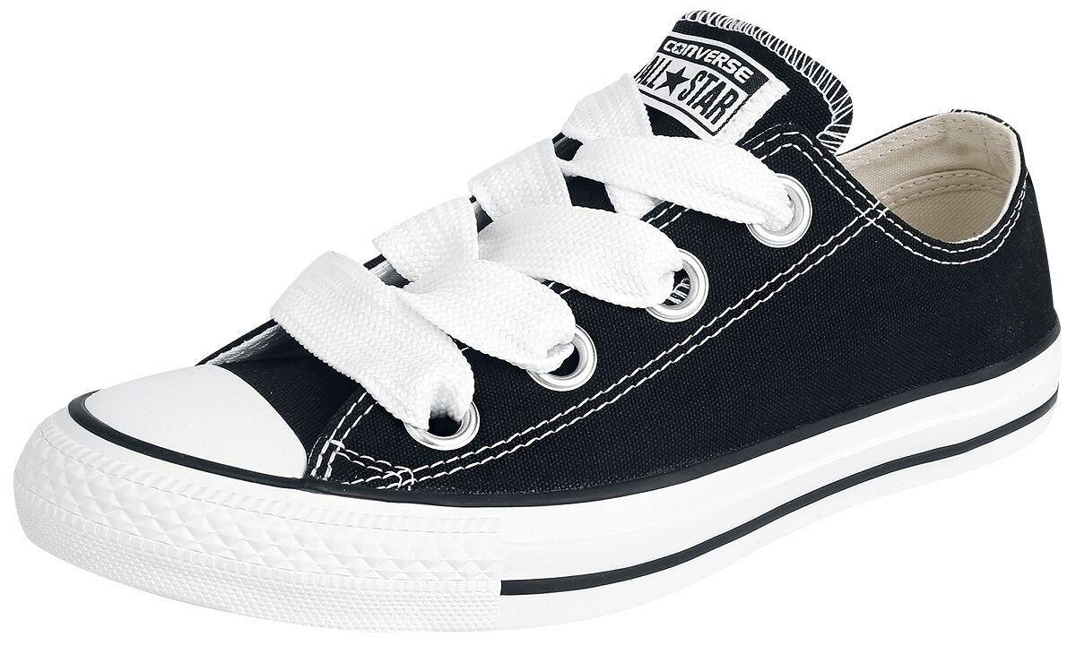 Image of   Converse Chuck Taylor All Star Big Eyelets - OX Sneakers sort-hvid