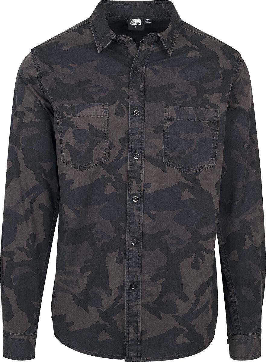 Image of   Urban Classics Camo Shirt Skjorte mørk camo