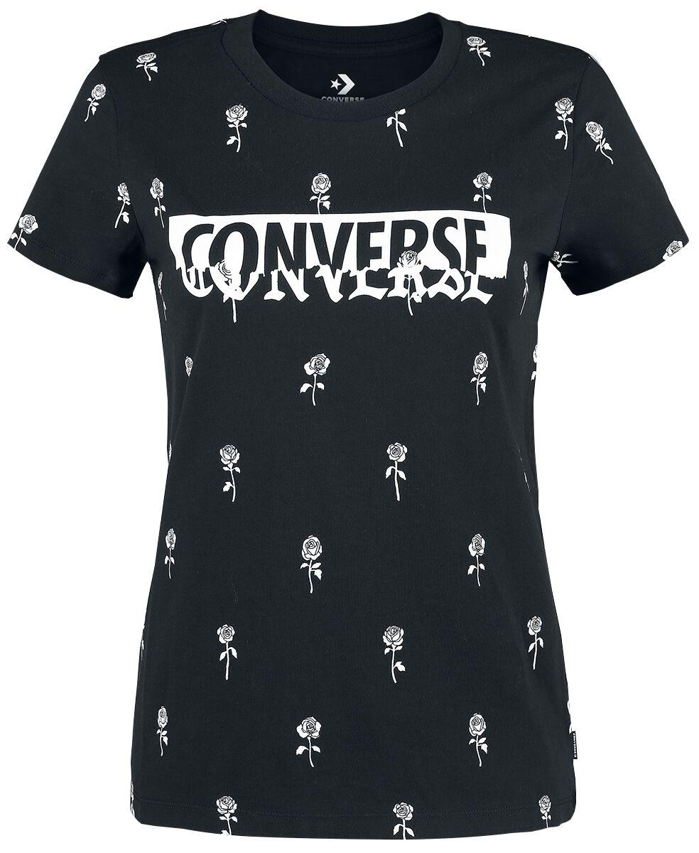 Image of   Converse Converse Rose Print Crew Tee Girlie trøje sort