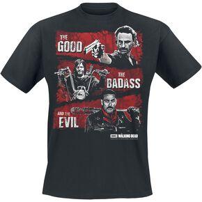 The Walking Dead Good, Badass, Evil T-shirt noir