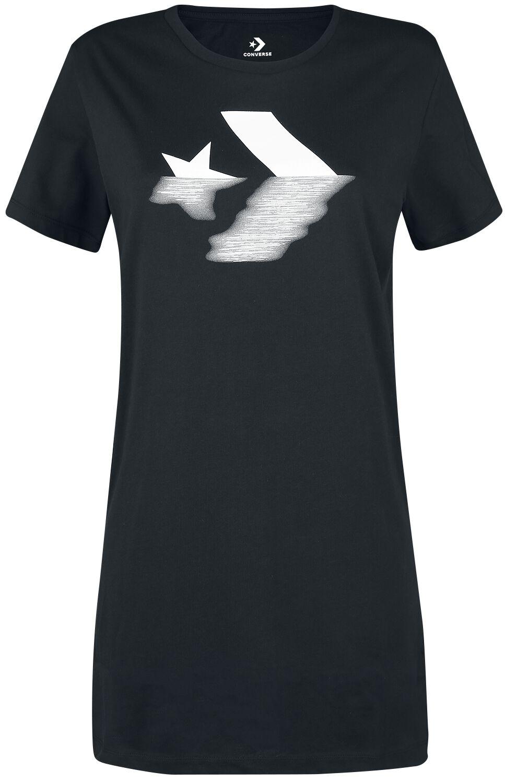 Image of   Converse Precious Metal Star Chevron Tee Dress Kjole sort