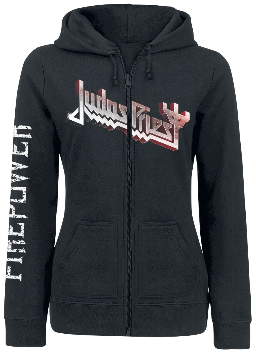 Image of   Judas Priest Firepower Girlie hættejakke sort