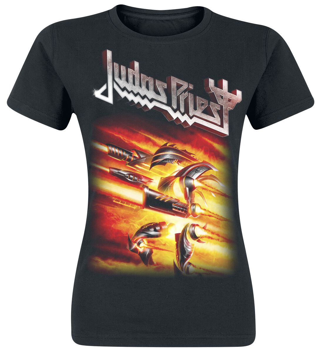 Image of   Judas Priest Firepower Girlie trøje sort