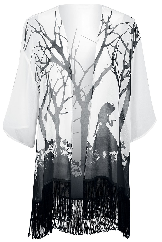 Image of   Alice i Eventyrland Silhouette Pigecardigan hvid-sort