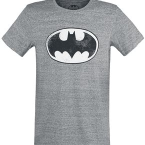 Batman Logo T-shirt gris chiné