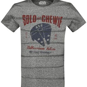 Star Wars Solo: A Star Wars Story - Solo And Chewie T-shirt gris chiné