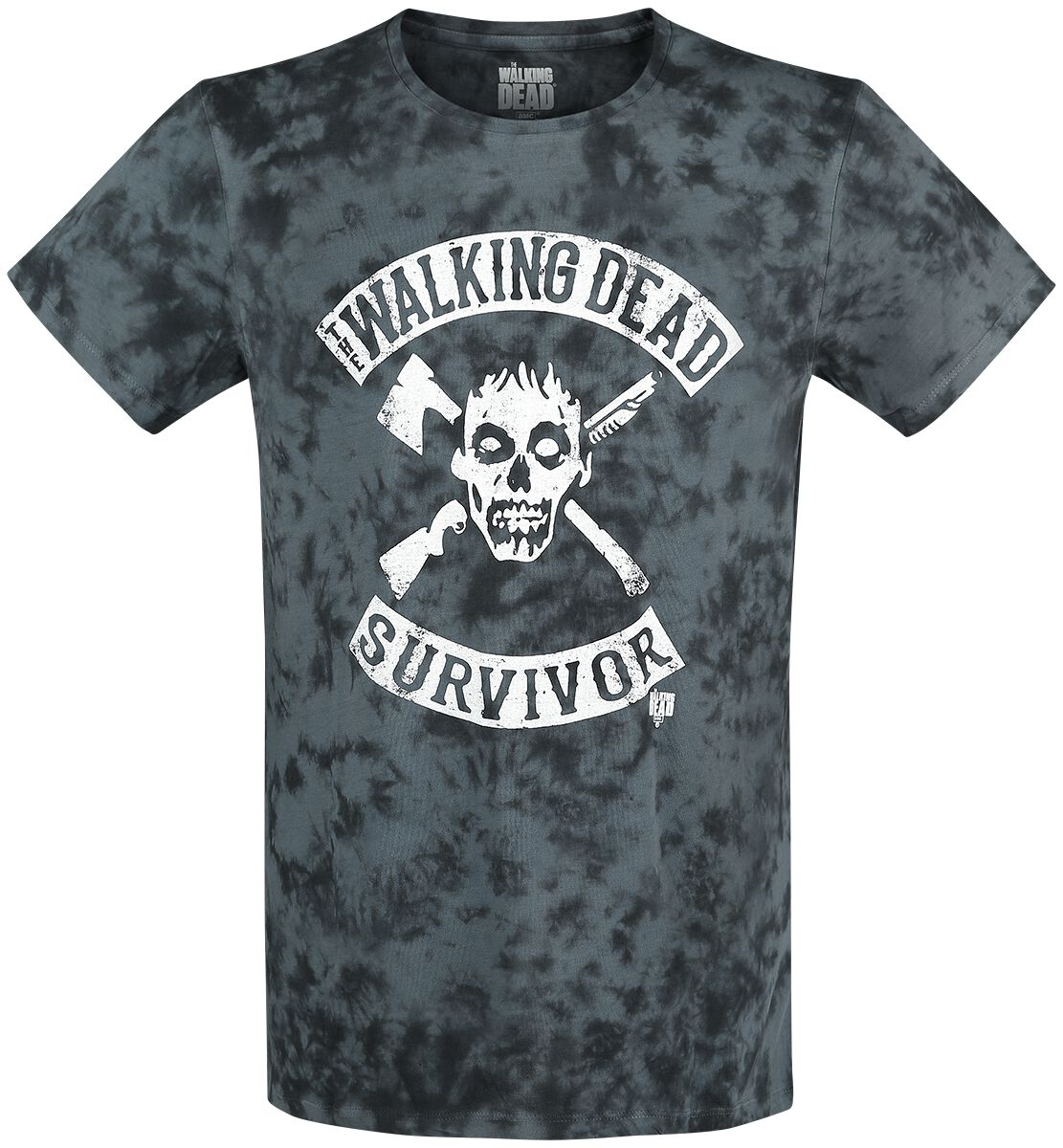 cf4de771d2f1 The Walking Dead Neganaposs Saviors T Shirt hvid sort