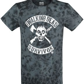 The Walking Dead Survivor T-shirt bleu/noir