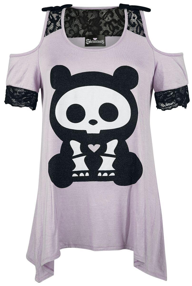 Skelanimals ChungKee The Panda Koszulka damska jasnofioletowy (Lilac)