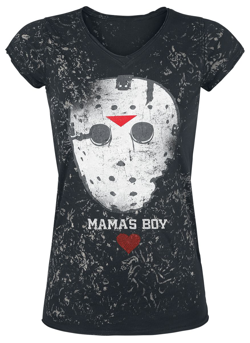 Merch dla Fanów - Koszulki - Koszulka damska Friday The 13th Mama's Boy Koszulka damska czarny - 375303