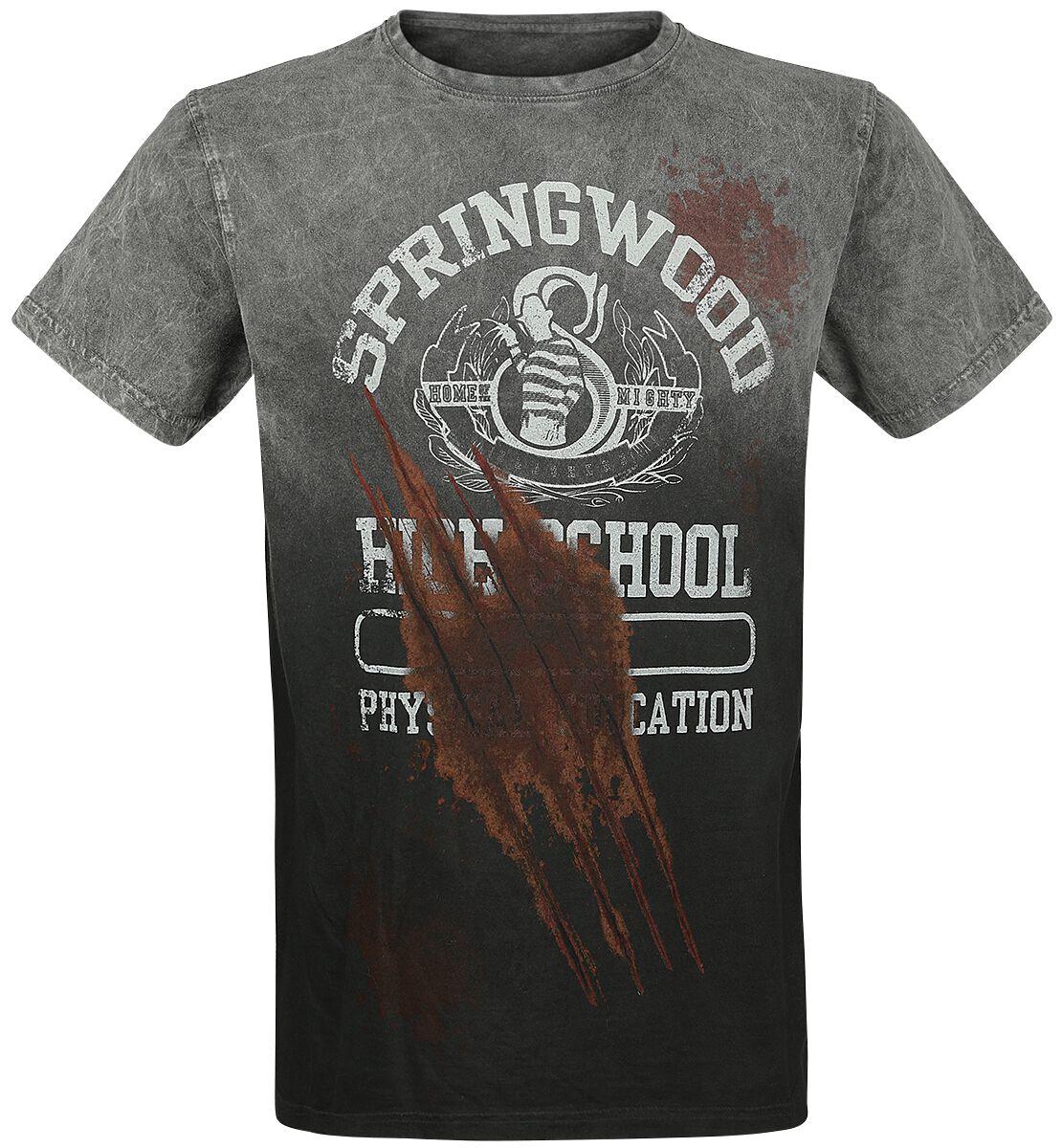 Merch dla Fanów - Koszulki - T-Shirt Koszmar z ulicy Wiązów Springwood T-Shirt szary - 375304