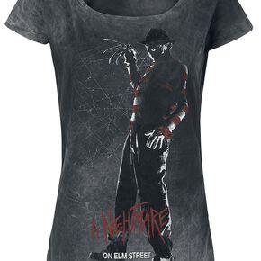 Les Griffes De La Nuit Silhouette T-shirt Femme gris