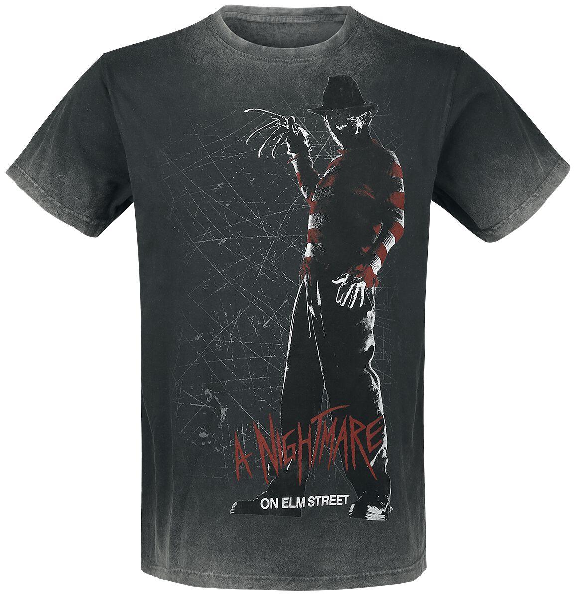 Merch dla Fanów - Koszulki - T-Shirt Koszmar z ulicy Wiązów Silhouette T-Shirt szary - 375307