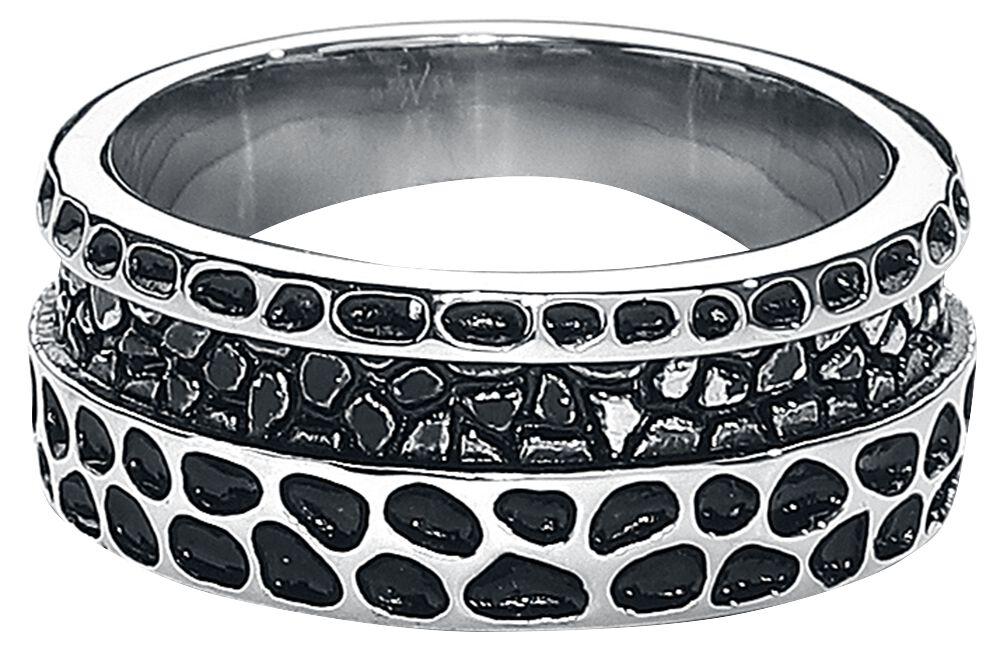 Image of   etNox hard and heavy Spuren Ring sølvfarvet