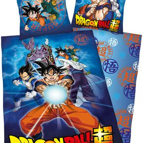 Dragon Ball Super Parure de lit 1 place multicolore