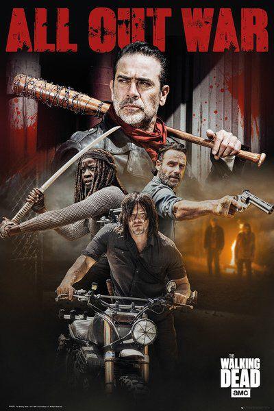 Image of   The Walking Dead Season 8 Plakat multifarvet