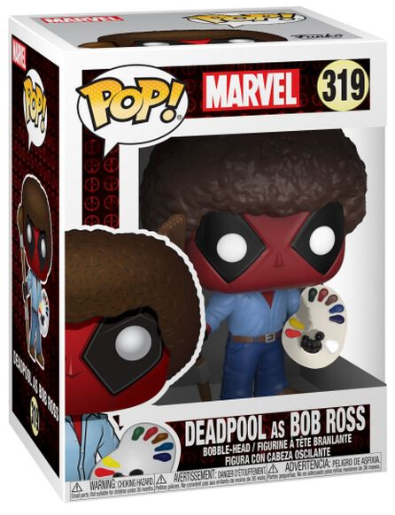 Image of   Deadpool Deadpool as Bob Ross Vinyl Figure 319 Samlefigur Standard