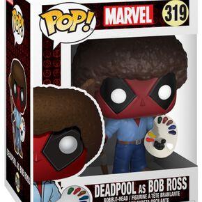 Figurine Pop! Deadpool Bob Ross Marvel - Deadpool 70's avec Afro