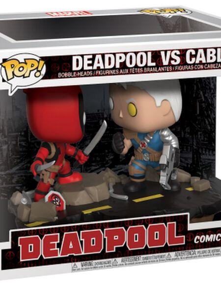 Lot de 2 Figurines Pop! Deadpool vs Cable - Comic Moments