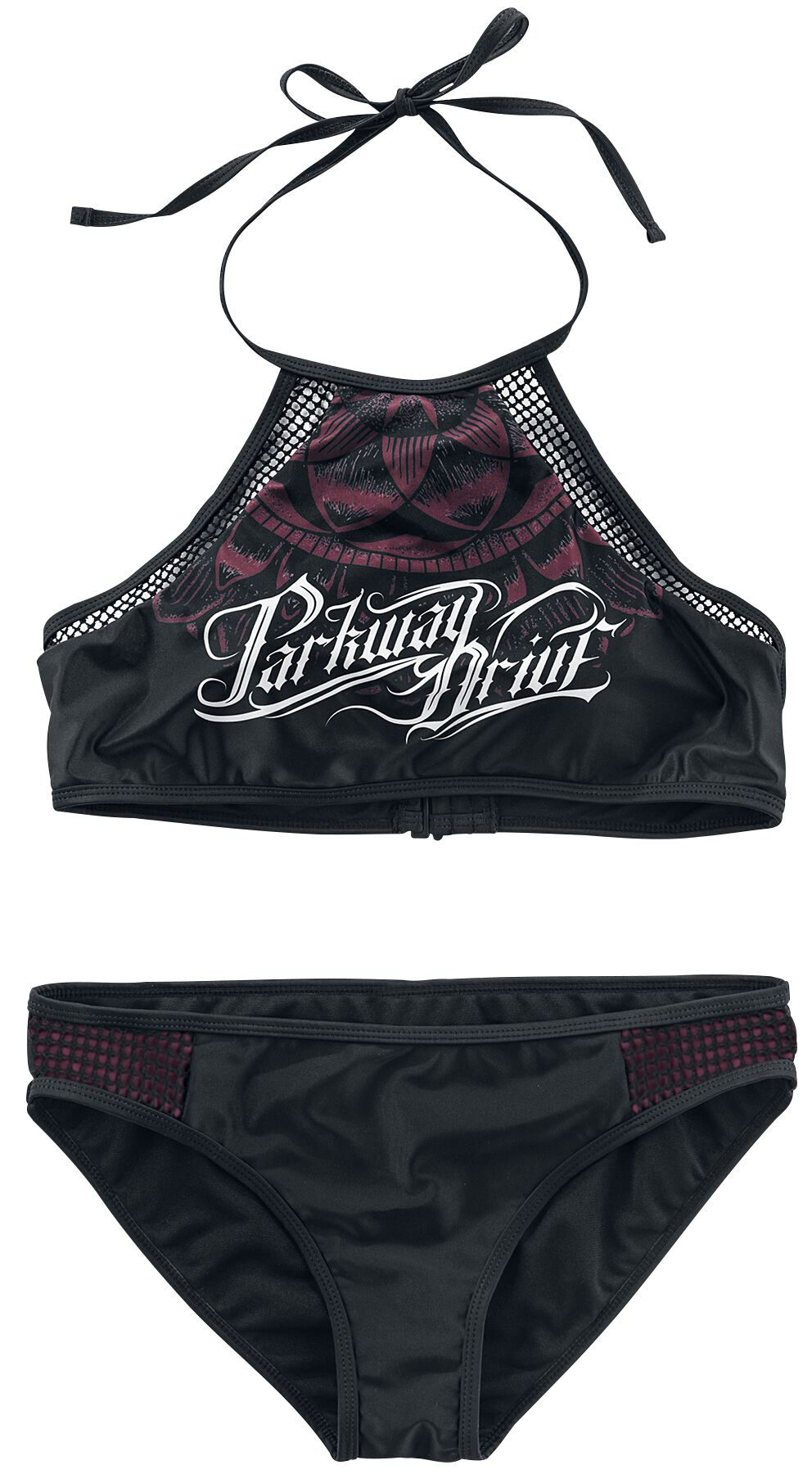 Image of   Parkway Drive EMP Signature Collection Bikini sort-bordeaux