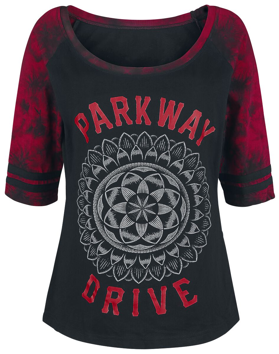 Image of   Parkway Drive EMP Signature Collection Girlie langærmet sort-rød