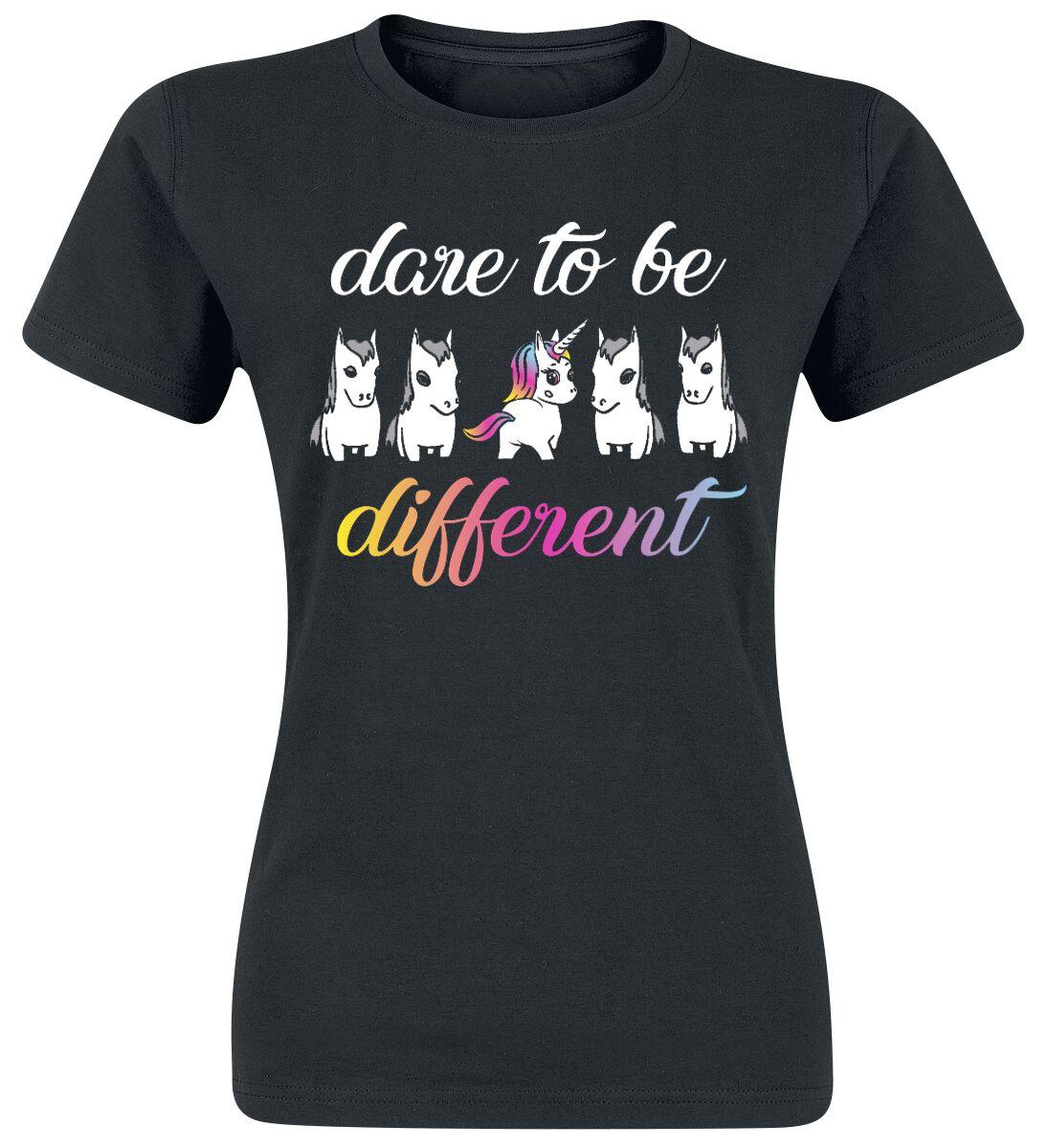 Jednorożec Dare To Be Different Koszulka damska czarny
