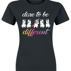 Unicorn Dare To Be Different T-shirt Femme noir