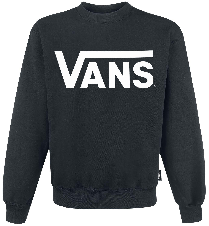 Image of   Vans Classic Crew Sweatshirt sort-hvid