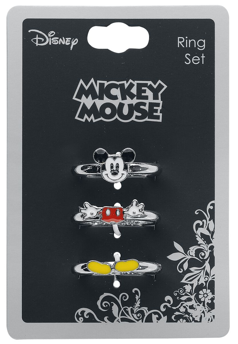 Image of   Mickey & Minnie Mouse Micky Ring sølvfarvet
