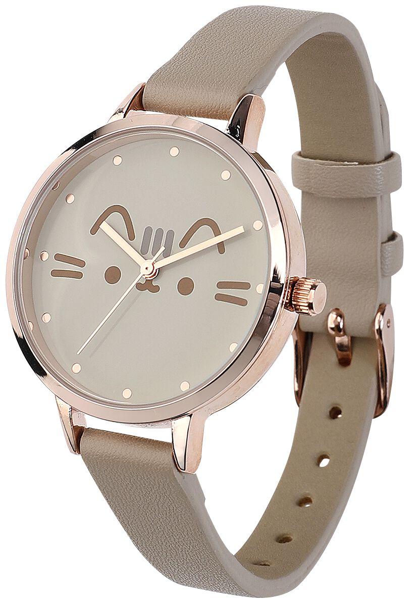 Uhren für Frauen - Pusheen Pusheen Armbanduhr grau  - Onlineshop EMP
