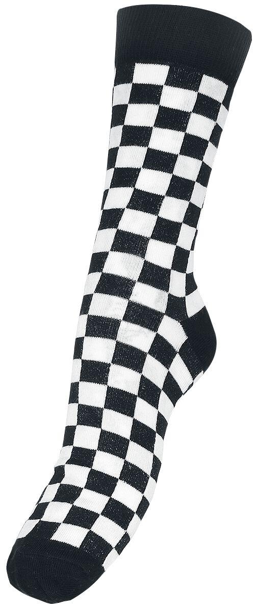 Image of   Urban Classics Checker Socks Sokker sort-hvid