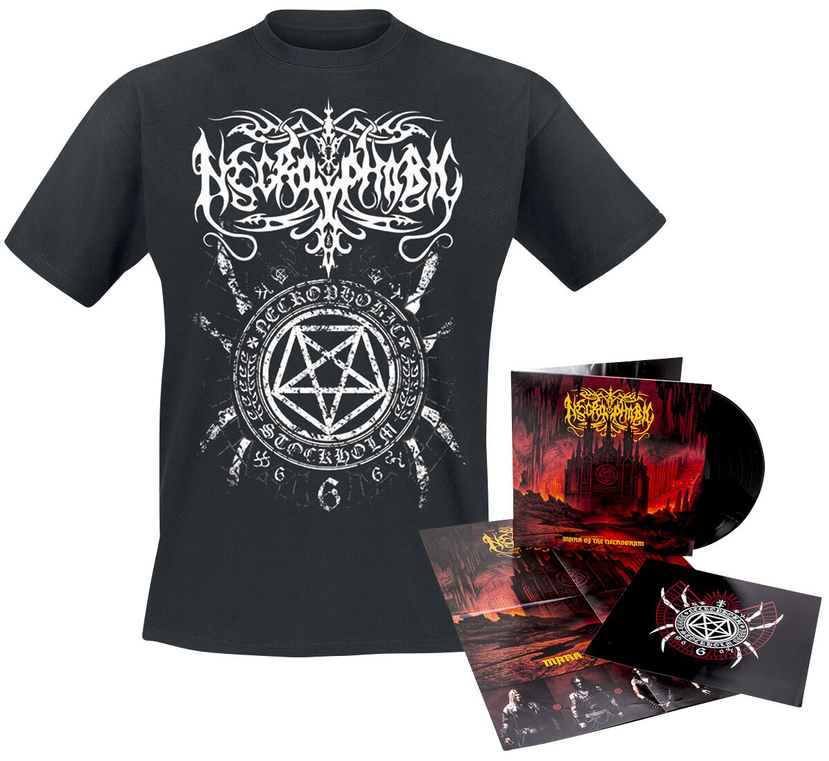 Image of   Necrophobic Mark of the necrogram CD & T-Shirt standard