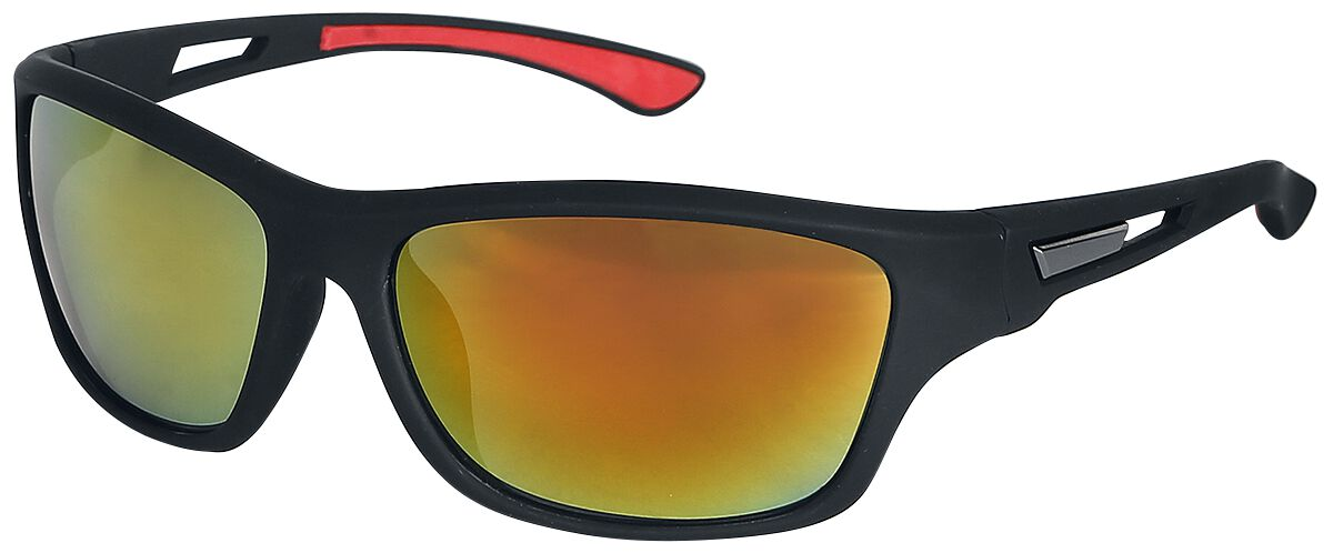 Biker Sonnenbrille schwarz/rot