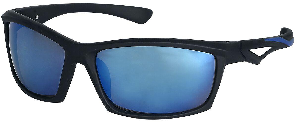 Biker Sonnenbrille schwarz/blau