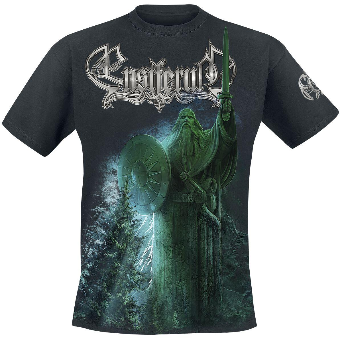 Image of   Ensiferum Two paths - Black & White Hættetrøje mørk grå