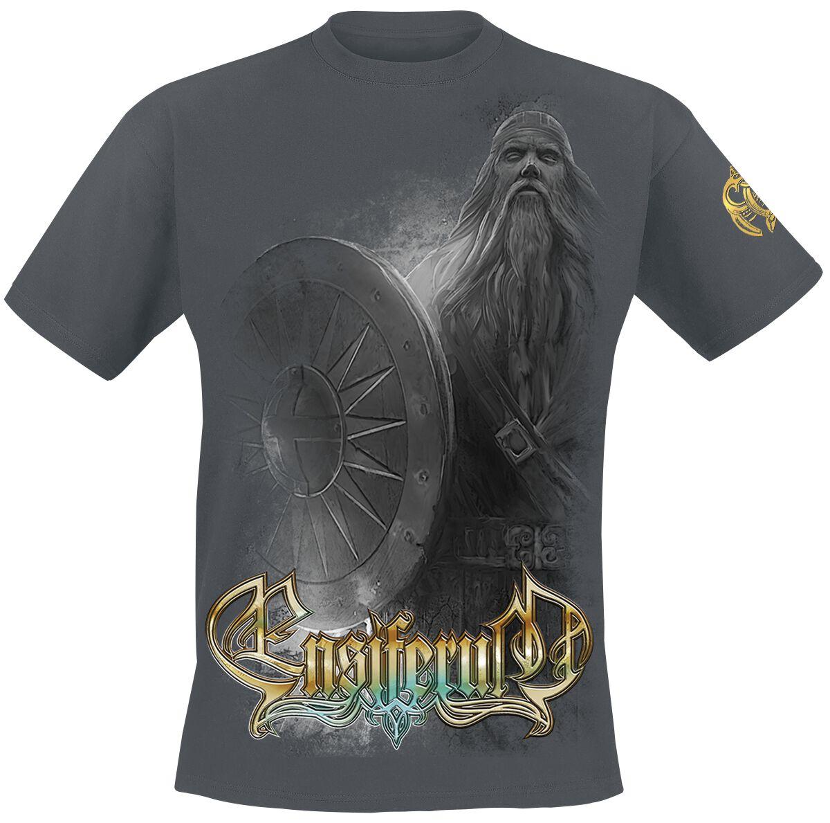 Zespoły - Koszulki - T-Shirt Ensiferum Two paths - shield T-Shirt ciemnoszary - 375880