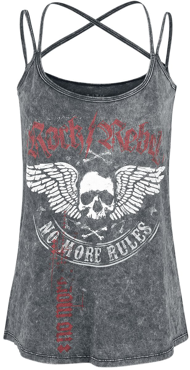 Image of   Rock Rebel by EMP Do What You Want Girlie top grå