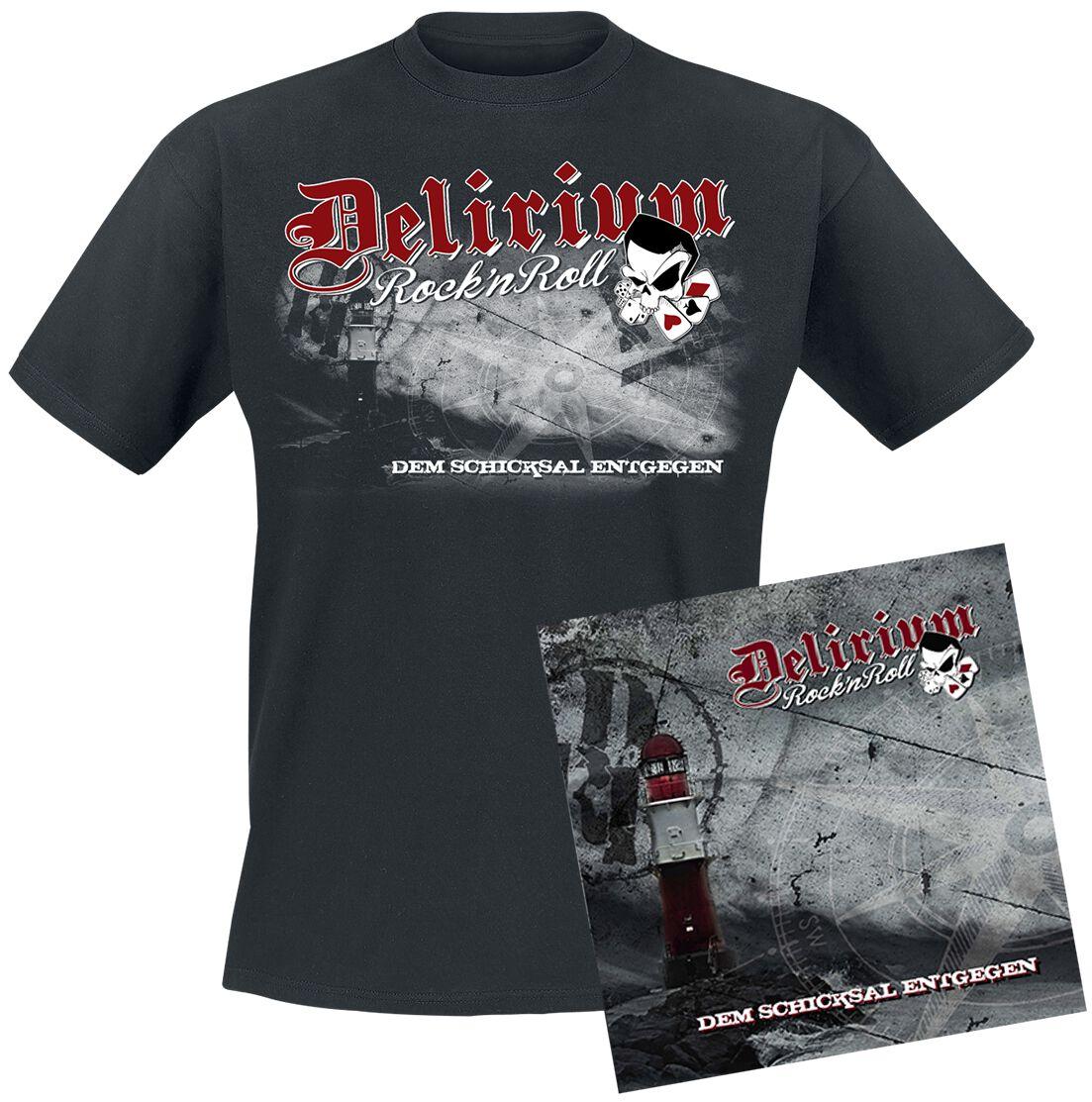 Image of   Delirium Rock 'n' Roll Dem Schicksal entgegen CD & T-Shirt Standard