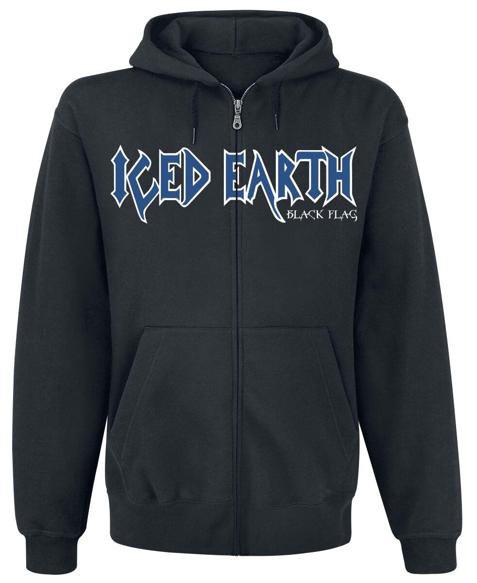 Zespoły - Bluzy z kapturem - Bluza z kapturem rozpinana Iced Earth Black flag Bluza z kapturem rozpinana czarny - 376013